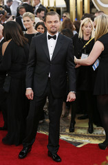 Actor Leonardo DiCaprio arrives at the 71st annual Golden Globe Awards in Beverly Hills