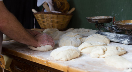 Fototapete - process of making bread