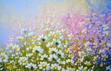 Flowers, oil paintings landscape