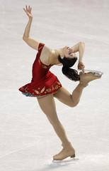 Tugba Karademir of Turkey performs during the ladies short program at the European Figure Skating Championships in Tallinn