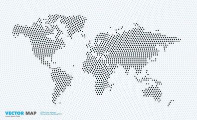Vector world map with rounds, spots, dots for business templates Wall mural