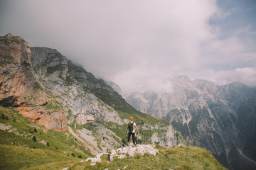 Hiking in the mountains of Slovenia