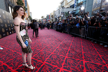 "Cast member Hathaway poses at the premiere of ""Alice Through the Looking Glass"" at El Capitan theatre in Hollywood"