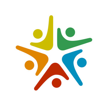 human community five people symbol
