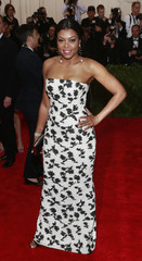 """U.S. actress Taraji P. Henson arrives for the Metropolitan Museum of Art Costume Institute Gala 2015 celebrating the opening of """"China: Through the Looking Glass,"""" in Manhattan"""
