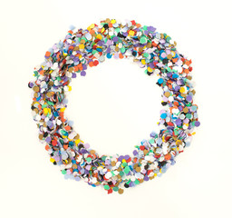 Confetti alphabet - symbol circle