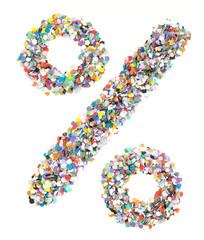 Confetti alphabet - symbol percent sale
