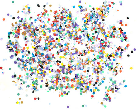 Confetti alphabet - background