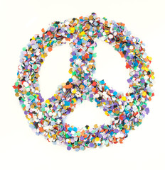 Confetti alphabet - symbol peace