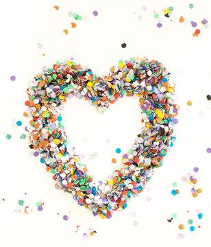 Confetti alphabet - symbol heart
