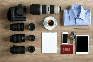 photographer preparation for travel.