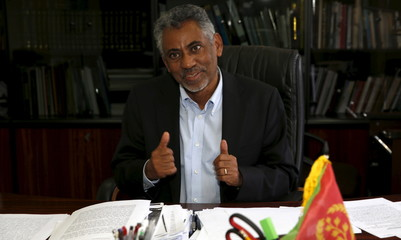 Eritrea's Information Minister Ghebremeskel speaks during a Reuters interview in his office in the capital Asmara
