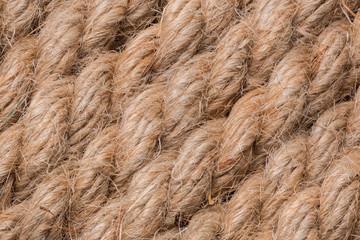 old beige rope macro background