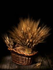 Natura morta con spighe di grano