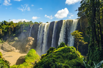 Bao Dai waterfall in Lam Dong province, Vietnam. This waterfall named the last king of feudalism in Vietnam.