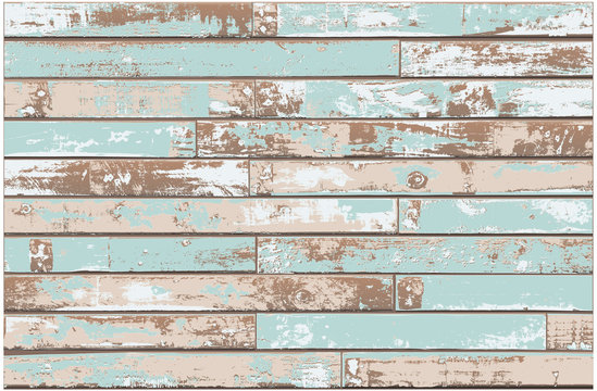 Vintage Blue Wooden Wall Background with Old Distressed Timber - Detailed vector, Grouped and Layered, easy to edit and change colors - large file contains raster effects