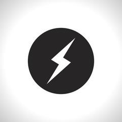 flat icon of lightning