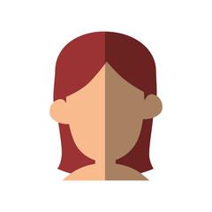 Young woman profile icon vector illustration graphic design