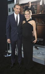 """Cast member Shepard and his wife actress Bell pose at the premiere of """"The Judge"""" at the Academy of Motion Picture Arts and Sciences in Beverly Hills"""
