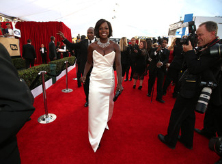 Actress Viola Davis arrives at the 23rd Screen Actors Guild Awards in Los Angeles