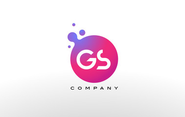GS Letter Dots Logo Design with Creative Trendy Bubbles.