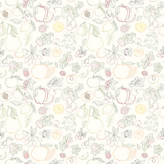 The seamless fruit pattern