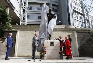 Alan Shearer statue unveiling at St James' Park