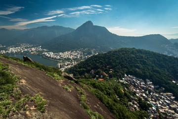 Rio de Janeiro City View With Hills and Corcovado Mountain