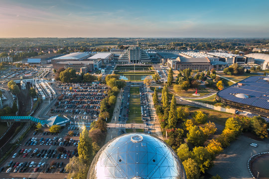 View of Brussels from Atomium