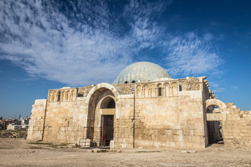 The Umayyad Mosque at the Citadel in Amman Jordan