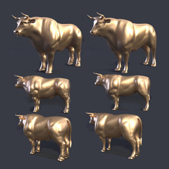 3D rendering of bull