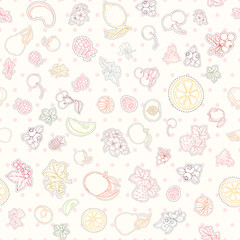 The seamless fruit pattern