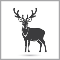 Reindeer simple icon for web and mobile design