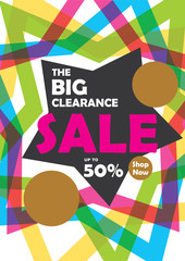 The big clearance sale banner design