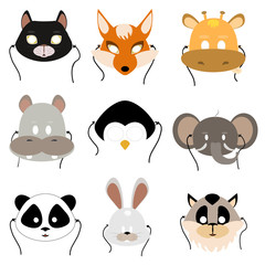 animal mask flat icon