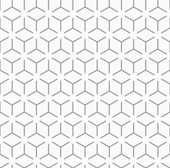 Seamless gray pattern_Geometric honeycomb structure #Vector graphics