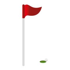golf flag isolated icon vector illustration design