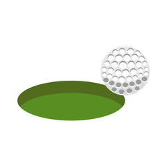 golf sport ball with hole icon vector illustration design