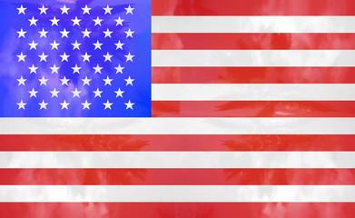 flag usa united states of america illustration