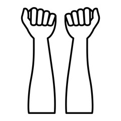 hands human raised icon vector illustration design
