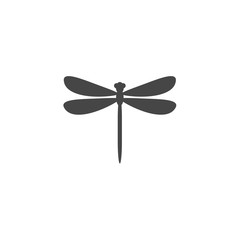 Dragonfly insect vector icon illustration