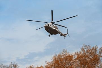 Ukrainian military helicopter Mi-8