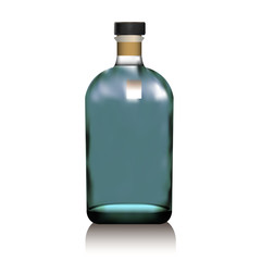 Realistic vector glass bottle