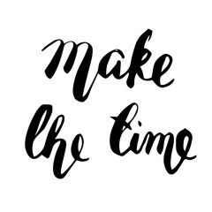 Make the time lettering