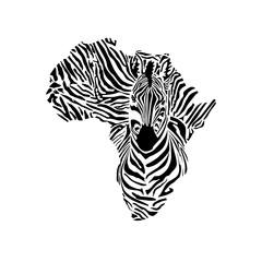 Zebra icon, Vector illustration