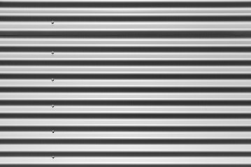 Gray corrugated metal wall texture