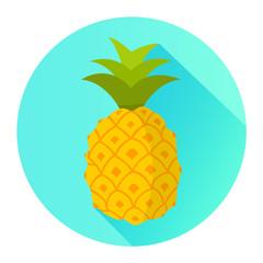 Ananas Icon Flat Design Vektor Grafik Illustration