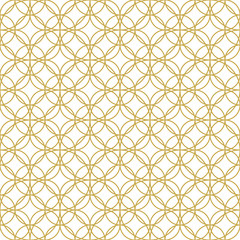 Seamless abstract vector pattern with linear circles in oriental style