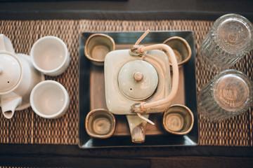 tea-set on table