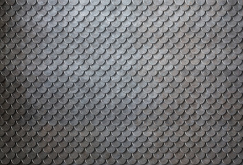 Rusty metal scales armor background 3d illustration